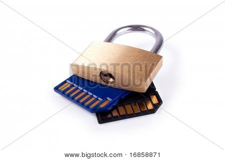 sd memory card with padlock