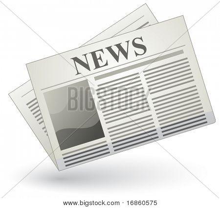 Icono de periódico de Vector