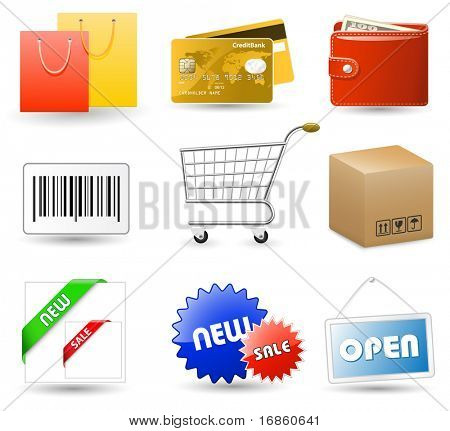 Shopping vector icons series