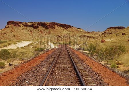 Railtrack In Australian Outback