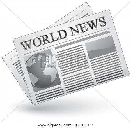Global news concept. Vector illustration of world news icon.