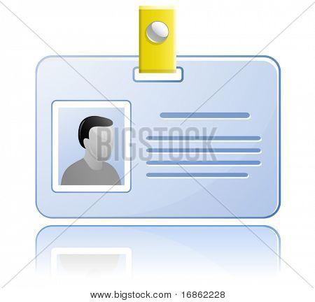 Tarjeta de identificación. Etiqueta de nombre de vector.
