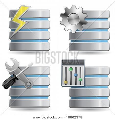 Base de datos - Web Hosting iconos