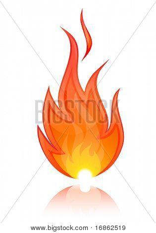 Vektor-Illustration des Feuers