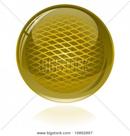 Golden glossy abstract sphere. Only simple gradient used.