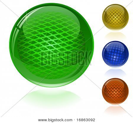 Glossy colorful abstract spheres. Only simple gradient used.
