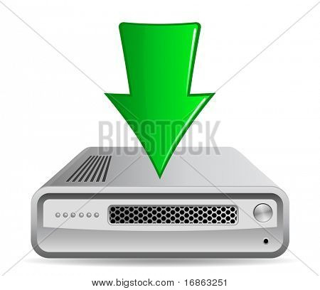 Download. Network Router and Green Arrow.