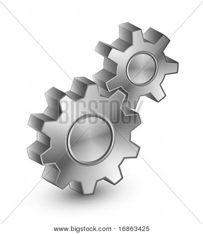 Illustration of interlocking gears