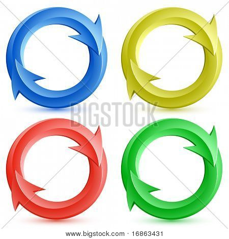 Vector illustration of color circular arrows.