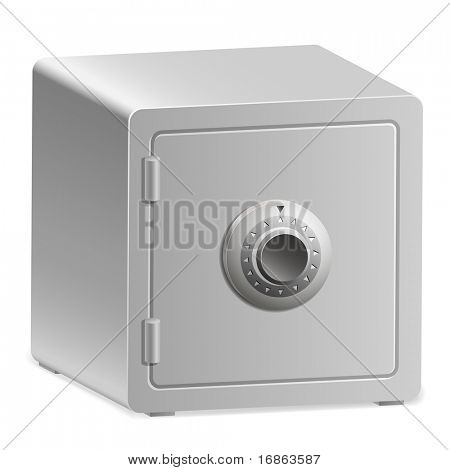 An Illustration of Strongbox with a Combination Lock.