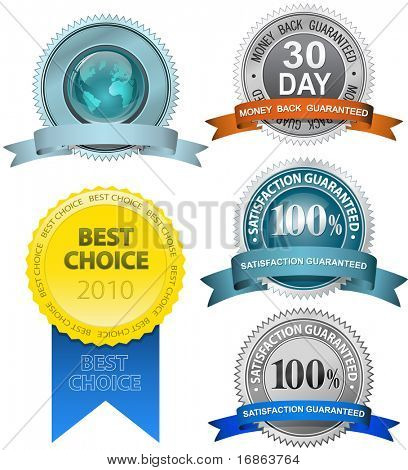 Satisfaction Guaranteed Sign Set (vector version in portfolio)