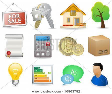 Real Estate Icon Set (vector version in portfolio)