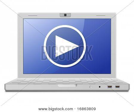 Sinal de serviço portátil e vídeo. Jornal online de vídeo.