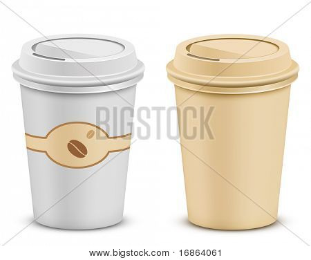 Plastic coffee cups with lid