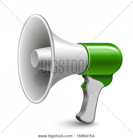Megaphone. Loudspeaker. Highly detailed vector illustration.
