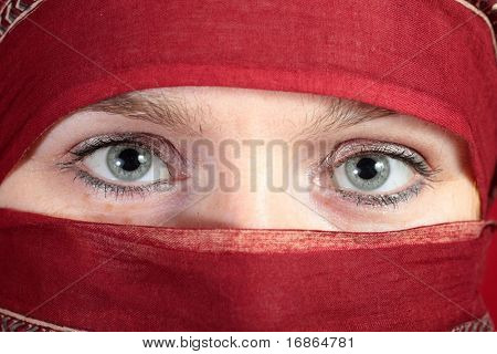 Arabian eyes - closeup