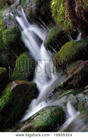 Most beautiful cascade Bila strz in White creek - National park Sumava Czech Republic Europe
