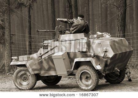 Wehrmacht armored vehicle - WW2 battlefield - Europe
