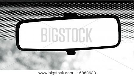 Rear view mirror with clipping path