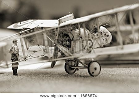 Aircraft model DH2 1:72 Scale - extremely close up
