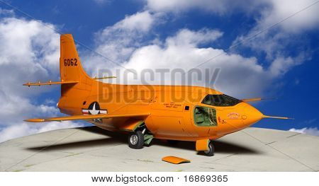 The Bell X-1, originally designated XS-1, was a joint NACA-U.S. Army Air Forces/US Air Force supersonic research project and the first aircraft to exceed the speed of sound. Plastic kit 1:48 scale