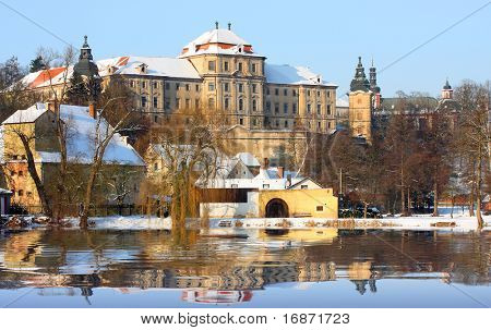 Chotesov monastery off Pilsen - great baroque architecture - Western Bohemia - Czech Republic - Europe