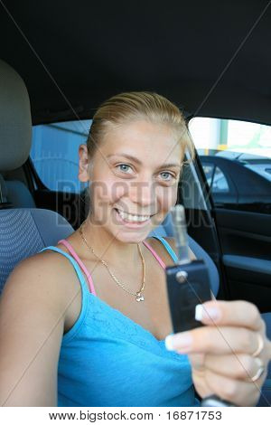 Woman In The Car -driver