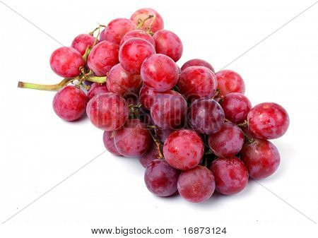 Grapes isolated on white background with shadows