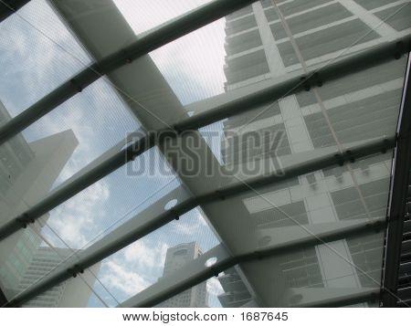 Geschäftsviertel über die Dach-Sicht