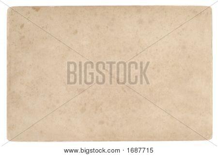 Back Face Of Old Postcard