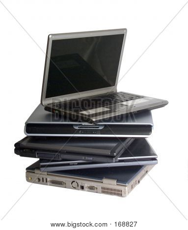 Stack Of Lap Top Computers