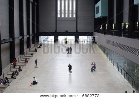 people in the big hall