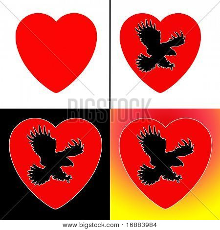 kite on background heart