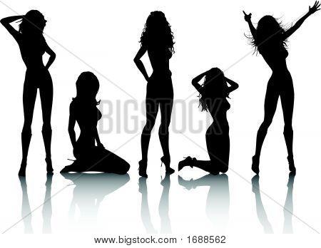 Sexy Females | Stock vector