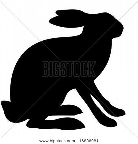 Liebre de ilustración vectorial aislado sobre fondo blanco