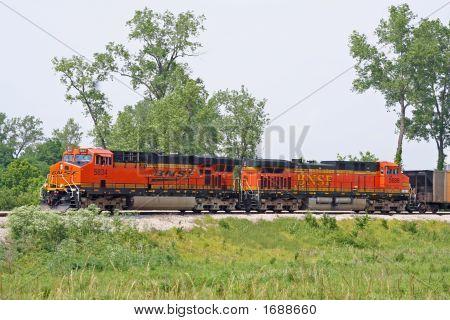 Coal hauling train