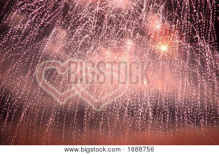 Fireworks Hearts