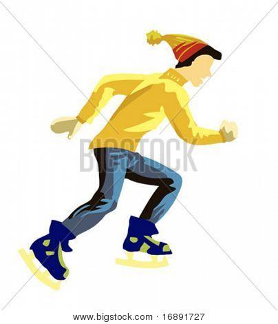 vector illustration skater on white background