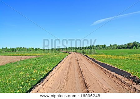 rural sandy road