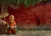 shaolin monk in meditation