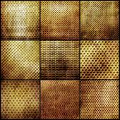 Gold metal grid set