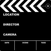 image of clapper board  - Flim clapper board with space to put your own text - JPG