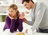 picture of argument  - Couple Having Argument At Home - JPG
