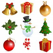 stock photo of christmas bells  - Christmas icon set  - JPG