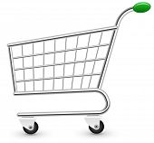 image of cart  - Empty shopping cart - JPG