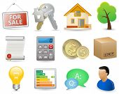 stock photo of real-estate agent  - Real Estate Icon Set  - JPG