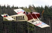 Historic plane Avia BH 5 in airport Plasy - Czech Republic Europe