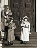stock photo of hitler  - WWII scene  - JPG