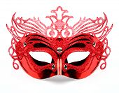 picture of masquerade mask  - Decorated mask for masquerade on white background - JPG