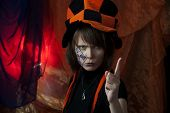 foto of mad hatter  - clown or angry mad hatter  - JPG